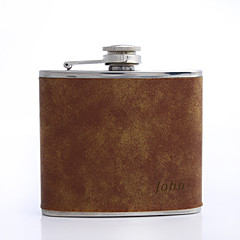 Stainless Steel / Leatherette Glam Flasks Personalized