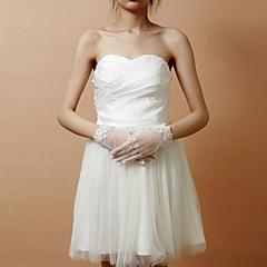 Wrist Length Fingertips Glove Lace / Net Bridal Gloves / Party/ Evening Gloves Spring / Summer / Fall / Winter Rhinestone