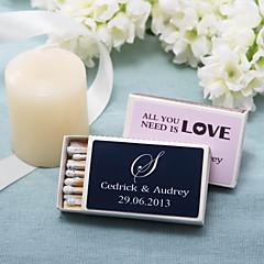 decoração do casamento caixas de fósforos personalizadas - monograma (conjunto de 12)