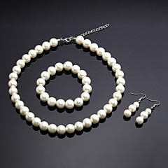 Jewelry Set Women's Anniversary / Wedding / Engagement / Birthday / Gift / Party Jewelry Sets Alloy Imitation Pearl Necklaces / Earrings