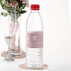 Personalized Water Bottle Sticker - Starfish (Pink/Set of 15)