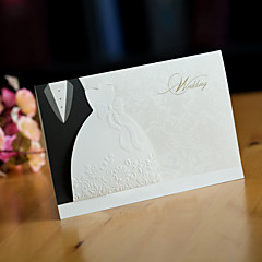Stilfuld Bride & Groom Wedding Invitation (Sæt med 50)