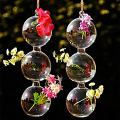 Table Centerpieces Hanging Gourd Shaped Glass Vase  Table Deocrations