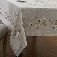 Floral Klassische Leinen Tischdecken