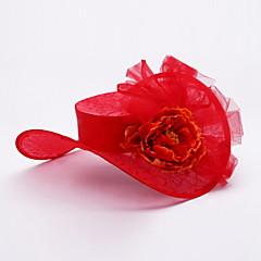 נשים סאטן / תחרה / טול / סגסוגת כיסוי ראש-חתונה / אירוע מיוחד כובעים