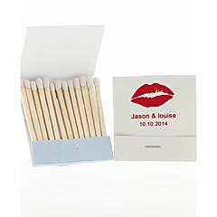 decoração do casamento Matchbooks personalizados lábios-conjunto de 12 (mais cores)