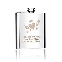 Marié / Groom / Couple / Parents Cadeaux Piece / Set Flasque Mariage / Célébration / Anniversaire / Business Inox Personnalisé Flasque