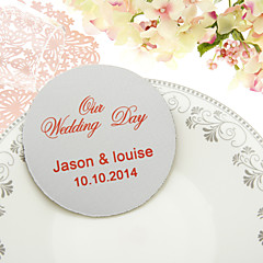 Personalized  Classic Wedding Coasters-Set of 4(More Colors)
