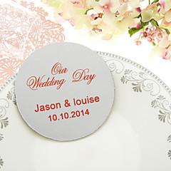 Personalizado de casamento clássico Coasters-Conjunto de 4 (mais cores)