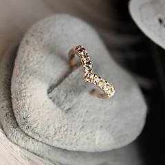 Gyűrűk Napi Ékszerek Kristály Ötvözet Női Karikagyűrűk 1db,8½ Aranyozott