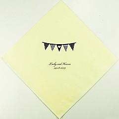 Henkilökohtainen Wedding lautasliinat Pennant Flag (More Colors)-sarja 100