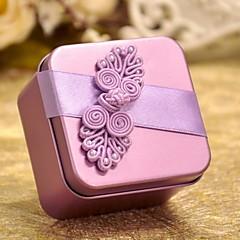 Lilac Heart Shaped Tin Weißblech von 50 Bevorzugungen-Set