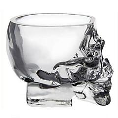 mini kristálykoponya fejét csésze vodka kupica whisky ital vigyáz az otthoni bar
