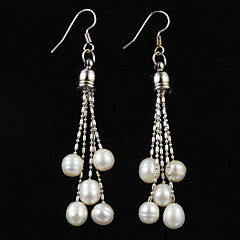 Fashion Sterling Silver With Pearl Women's Earrings