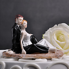 """bolo de coco do """"momento romântico na praia"""" bolo topper"""