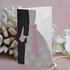 """Bride & Groom Hand in Hand"" Wedding Invitation (Set of 50)"