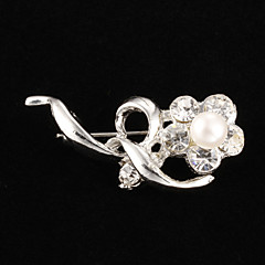 Fashion Brass With Pearl Brooch