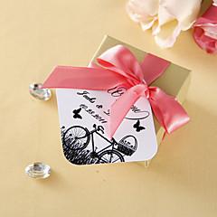 personalizado etiquetas favor - bicicleta e borboleta (conjunto de 36)