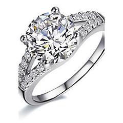 Ringe Damen Diamant Silber / Sterlingsilber / Platiert Silber / Sterlingsilber / Platiert Liebe 5 / 6 / 7 / 8 / 8½ / 9 / 9½ Klar