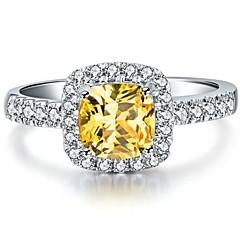 3 Karat Halogen Kissen Frauen sona Kristall-Diamant-Ring 925 Silber Weißgold Luxus