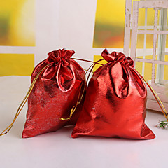 Metallic Kordelzug Wedding Favor Bag - Set von 12