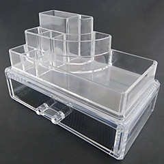 Acrylic Transparent Complex Combined Double Layer Cosmetics Storage Makeup Storage with Drawer Cosmetic Organizer