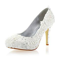Women's Wedding Shoes Heels/Closed Toe Heels Party & Evening/Wedding White