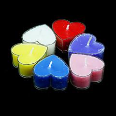 Profumo di cuore a forma di candele votive - Set di 6 pezzi