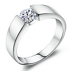 Ring Unisex Cubic Zirconia Platinum / Brass Platinum / Brass SilverColor & Style representation may vary by monitor. Not responsible for