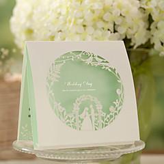 """Não personalizado Dobrado no Topo Convites de casamento Cartões de convite Estilo Clássico Arte de Papel 6""""×6"""" (15*15cm)"""