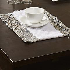 4er-Set Plüsch & Pailletten Design-Tischsets