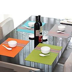 Divat Egyszerűen stílus kevert, csíkos alátét a vacsora, L45cm x W 30cm, Hőálló PVC