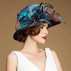 Gorgrous Organza Wedding/ Honeymoon Hat With Sequin(More Colors)
