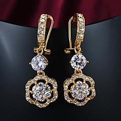 Boucles d'oreille goutte Plaqué or 18K or Argent Doré Bijoux Mariage Soirée