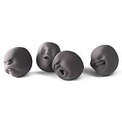 Minsker stress Originalt legetøj Legetøj Cylinder-formet Gummi Sort Fade