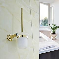 Kortárs Arany Crystal Brass WC kefetartó