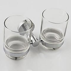 "Zahnbürstenhalter Chrom Wandmontage 17*10*9.5(6.9""*3.9""*3.7"") Messing / Glas Modern"