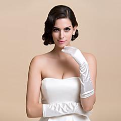 Elbow Length Fingertips Glove Satin Bridal Gloves Party/ Evening Gloves Spring Fall Winter