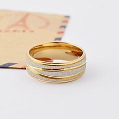 Prstenje Round Shape Dnevno / Kauzalni Jewelry Titanium Steel / Pozlaćeni Žene Klasično prstenje5 / 6 / 7 / 8 / 9 / 10 Srebrna