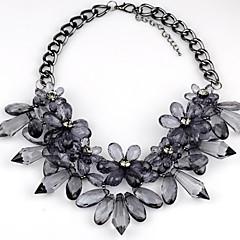 נשים שרשראות תליון שרשראות הצהרה קריסטל אבן יקרה גילוי תכשיטים תכשיטי יוקרה שחור אפור בהיר תכשיטים