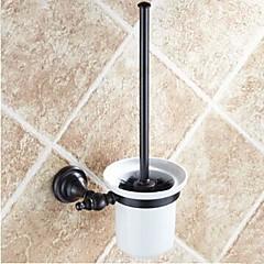 Toiletborstelhouder Met olie ingewreven brons Muurbevestiging 390 x 83 x 66mm (15.35 x 3.26 x 2.59inch) Messing / Keramiek Antiek