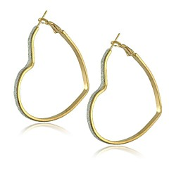 Alloy with Lagging Different Shapes Hoop Earrings
