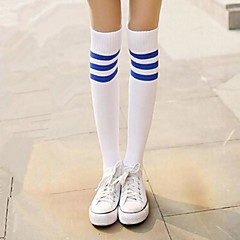 Socks/Stockings Sweet Lolita / Classic/Traditional Lolita Lolita Lolita White / Blue Lolita Accessories Stockings Print / Striped For