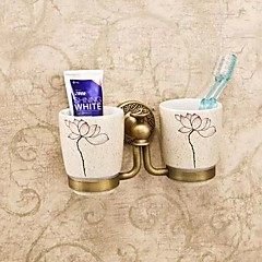 Zahnbürstenhalter Messing, antik Wandmontage 20*10*10cm(7.6*5*5inch) Messing / Keramik Antik