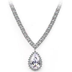 messing vermeil forgyldt med cubic zirconia høj og smykker halskæder