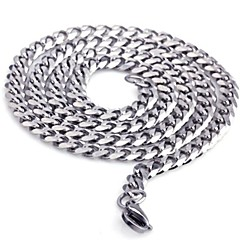 Men's Fashion All Match Titanium Steel Chain Necklace Christmas Gifts