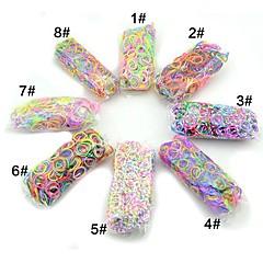 latex mixte caoutchouc de silicone bandes multicolores fluorescence arc de style couleur de tisser avec 600pcs bandes, 24 s-clips