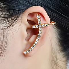 Fül Mandzsetta luxus ékszer Strassz utánzat Diamond Ötvözet Cross Shape Ékszerek Mert Esküvő Parti Napi Hétköznapi Sport