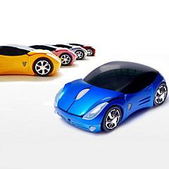 Беспроводная оптическая мышка в форме игрушечного автомобиля, 2.4G (разные цвета)