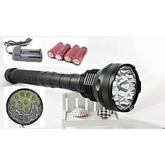 15 Cree T6 привело 18000 люмен 5 режимов переключения тактический фонарь с 4шт 5800mAh 26650 и двойной зарядное устройство